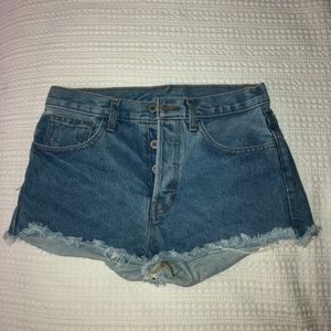 Blue denim shorts from Brandy Melville